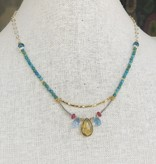 Howling Dog Stevie Necklace- Turquoise