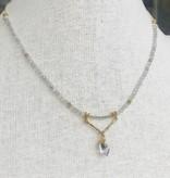 Howling Dog Serene Necklace- Labradorite