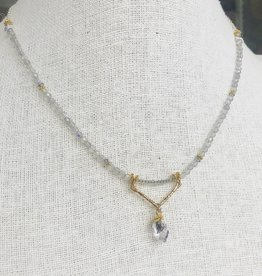 Howling Dog Serene Necklace- Labradorite