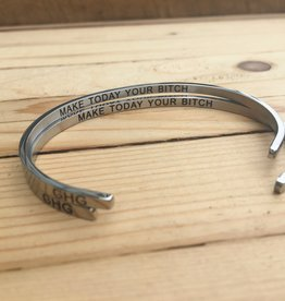 Glass House Goods Inner Voice Bangle- Make Today Your Bitch