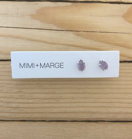 mimi + marge Faceted Amethyst Stud Earring