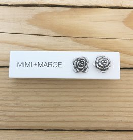 mimi + marge Oxidized Rose Stud Earring