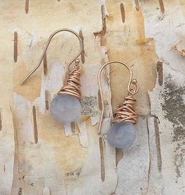 Dianne Rodger Rose Gold Chalcedony Petal Earrings