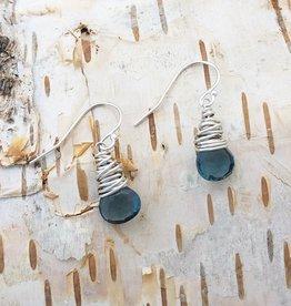 Dianne Rodger Silver London Quartz Petal Earrings