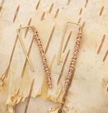 Dianne Rodger Rose Gold Twist Hook Earrings