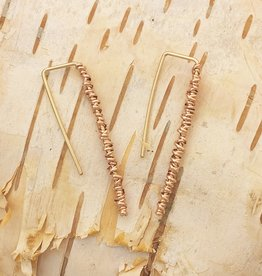 Dianne Rodger Rose Gold Twist Hook Earrings