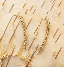 Dianne Rodger Gold Twist Hook Earrings