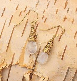 Dianne Rodger Gold Moonstone Petal Earring