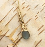Dianne Rodger Gold Labradorite Petal Necklace