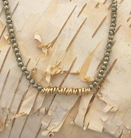 "Dianne Rodger Gold 1"" Twist Pyrite Choker"
