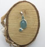 Bamiyan Silver Chalcedony Pendant