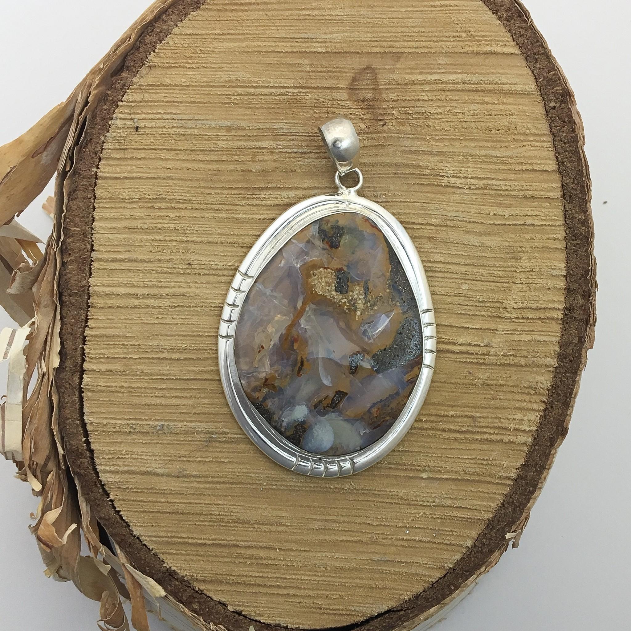 Bamiyan Silver Stone Pendant