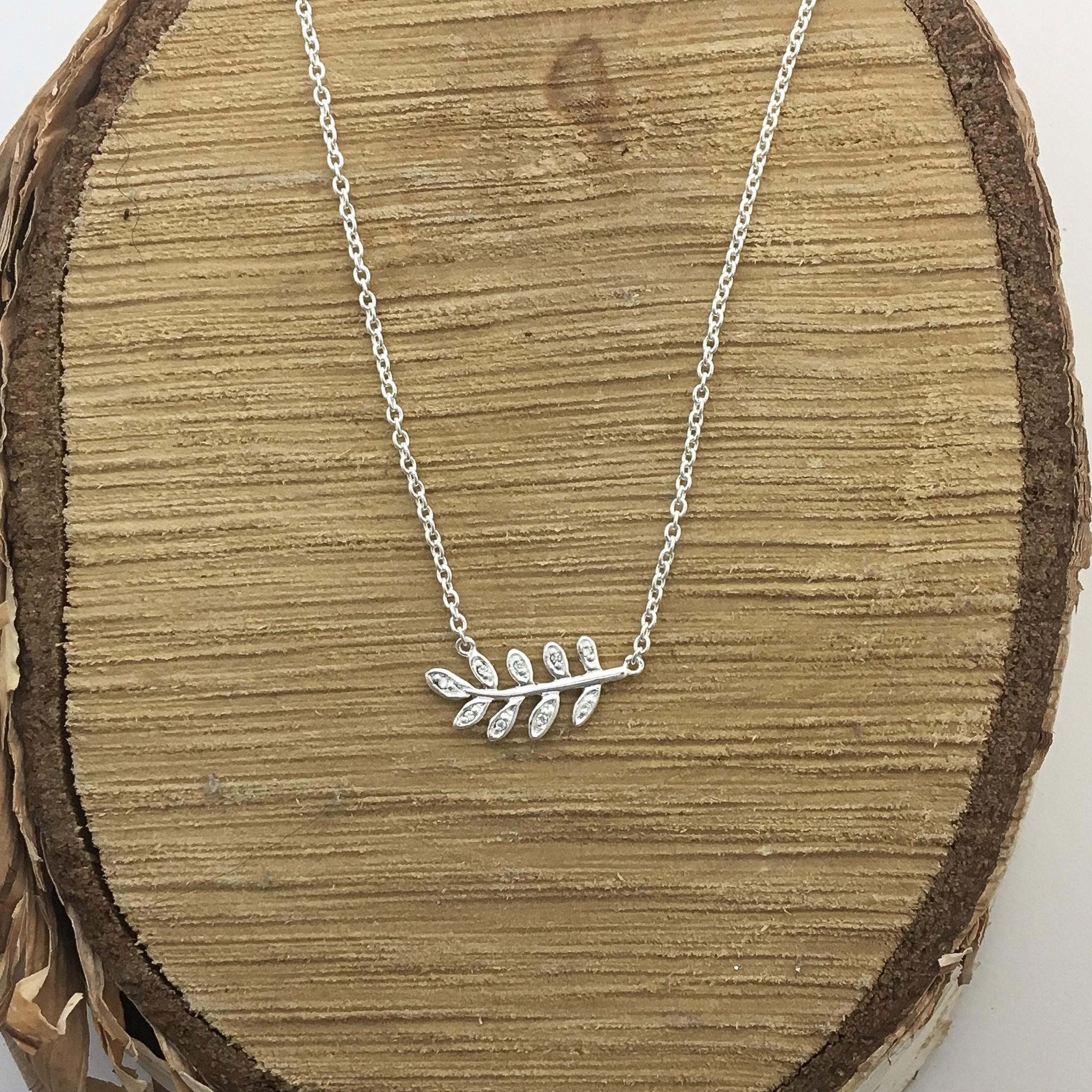 Tashi Silver Pave Vine Necklace
