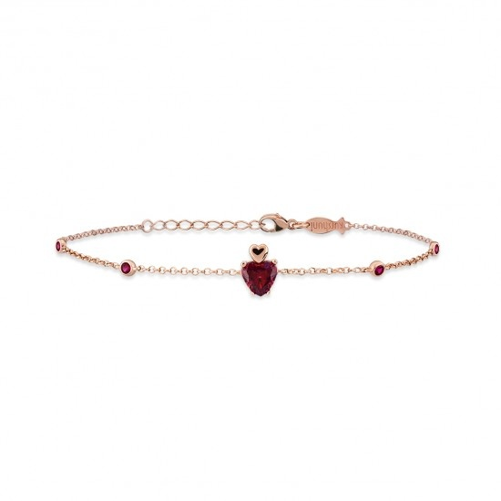Kurshuni Jewellery Rose Gold Heart Bracelet