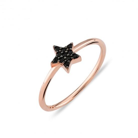 Kurshuni Jewellery Black Pave Star Ring