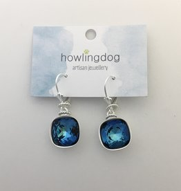 Howling Dog Howling Dog Earring- Mermaid Blue Swarovski Drop