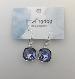 Howling Dog Howling Dog Earring- Lilac Swarovski Drop