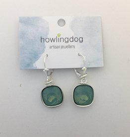 Howling Dog Howling Dog Earring- Mint Swarovski Drop