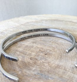 Glass House Goods Inner Voice Bracelet - Yes, the fuck I can