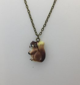 Liberty & Love Porcelain Squirrel Necklace