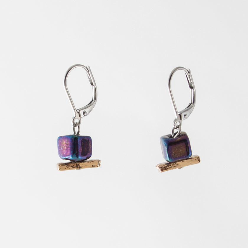 Anne Marie Chagnon Awa Earring- Iridescent Black