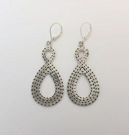M Style Sterling Drop Earring