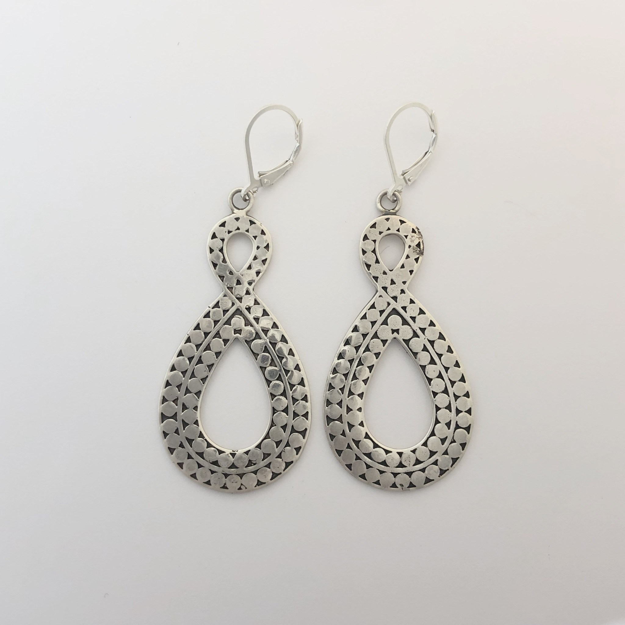 M Style Sterling Drop Earring
