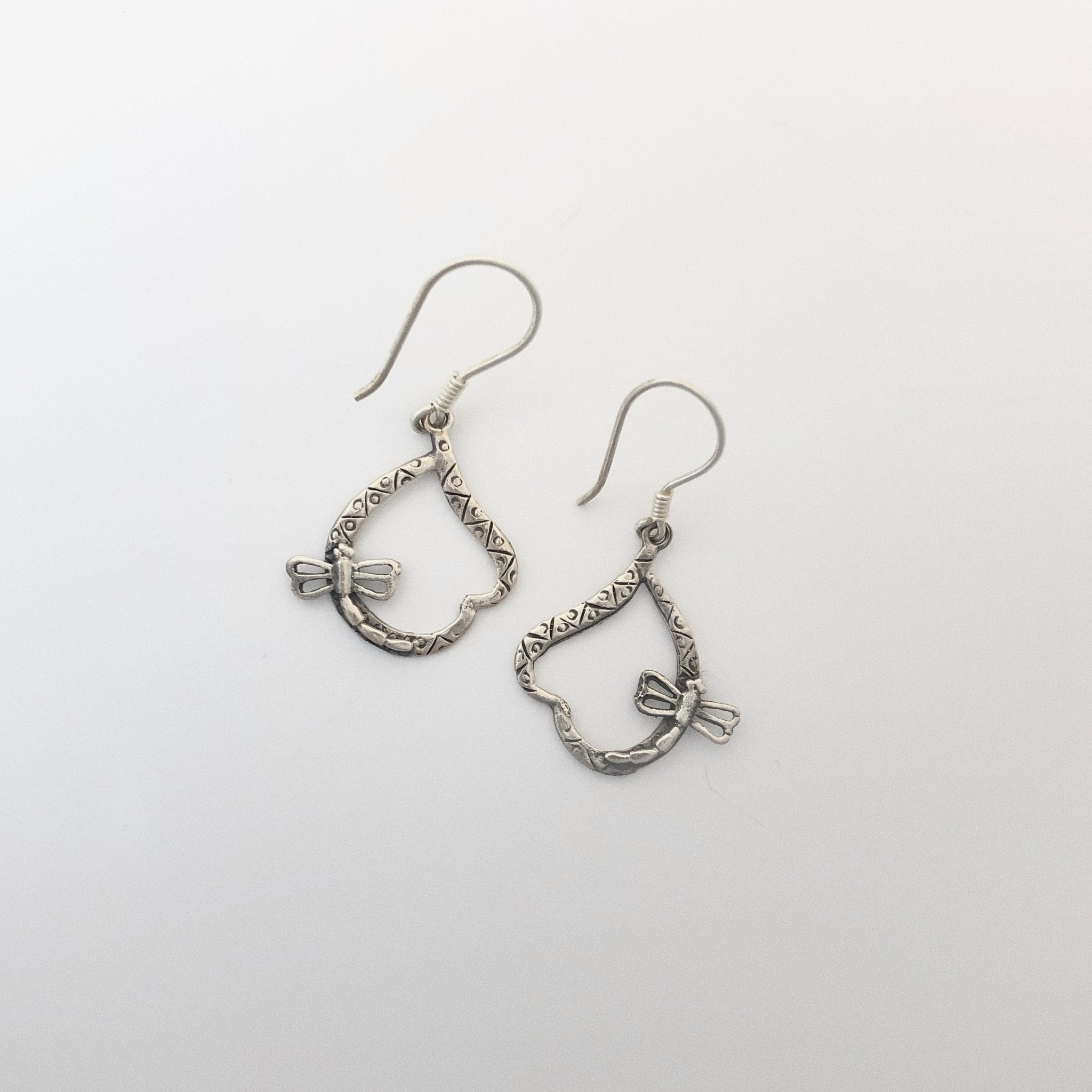M Style Dragonfly Drop Earring