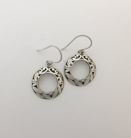M Style Small Sterling Open Filigree Ring Earrings