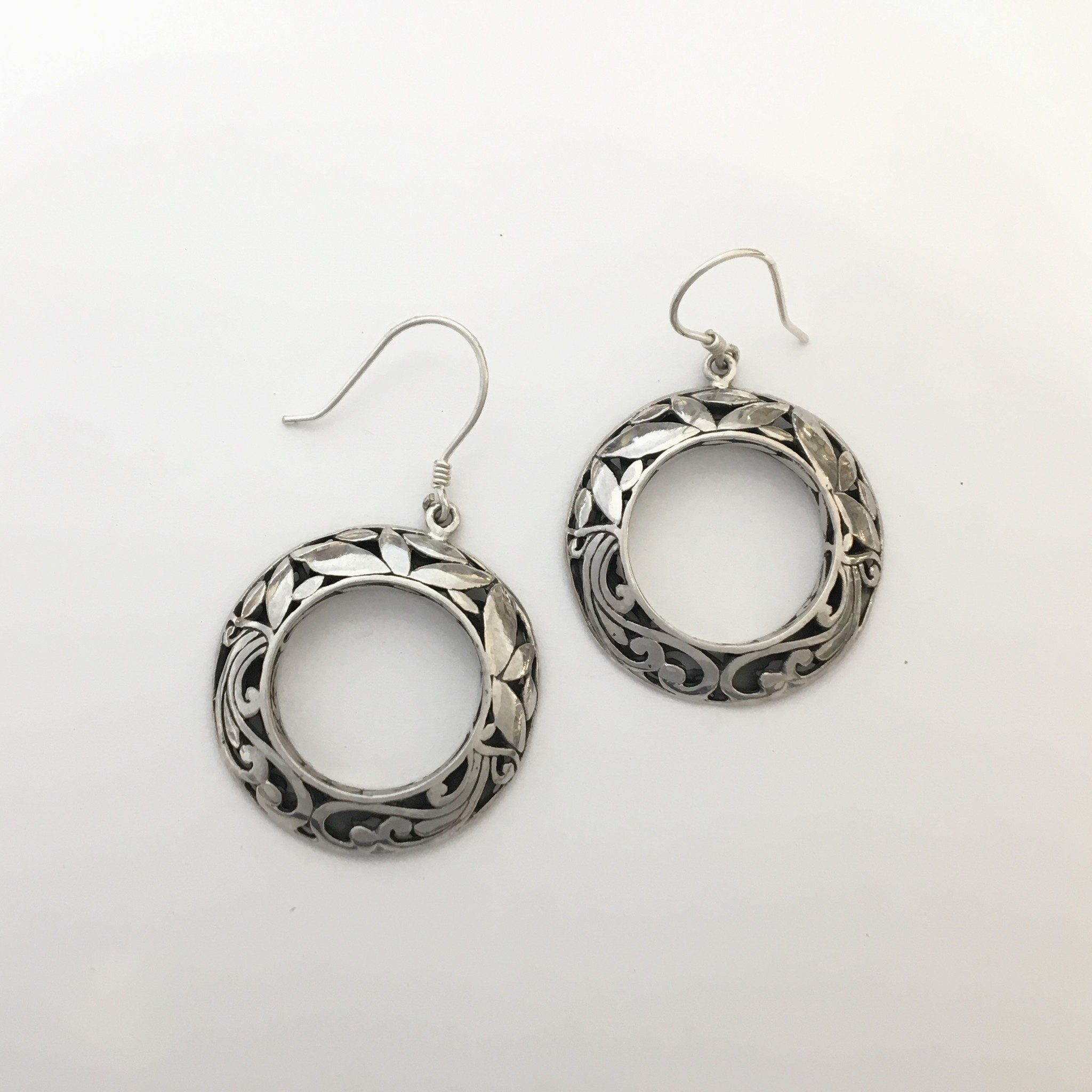 M Style Large Filigree Circle Drop Earrings