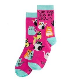WIT One Cat Shy Socks