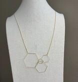 Pursuits Hex Necklace -Gold
