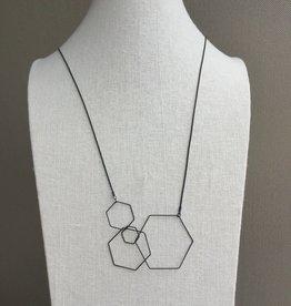 Pursuits Hex Necklace -Matte Black