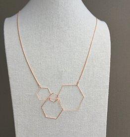 Pursuits Hex Necklace -Rose