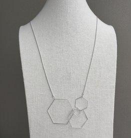 Pursuits Hex Necklace -Silver