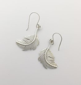 Bamiyan Silver Feather Earring
