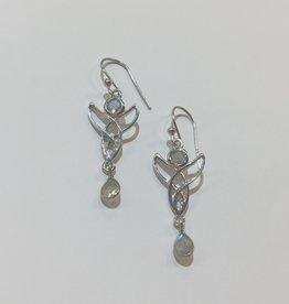 Bamiyan Labradorite Angel Earrings