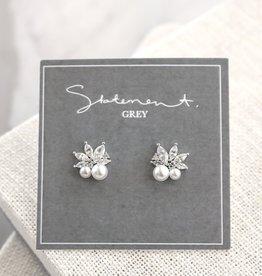 Statement Grey Silver Anette Earrings