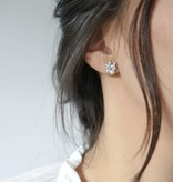 Statement Grey Silver Anette Earrings