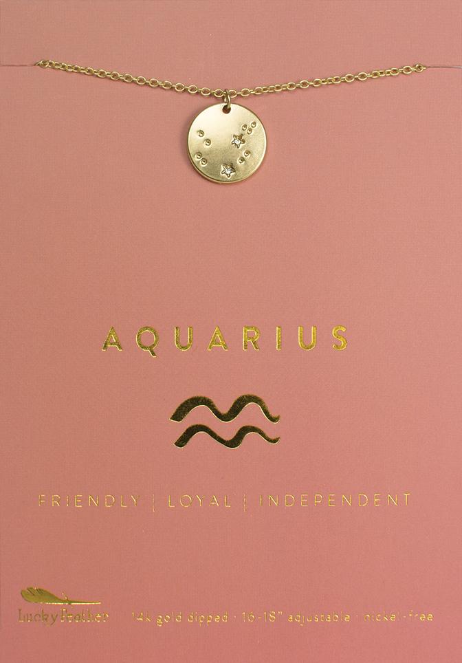 Lucky Feather Lucky Feather Zodiac- Aquarius