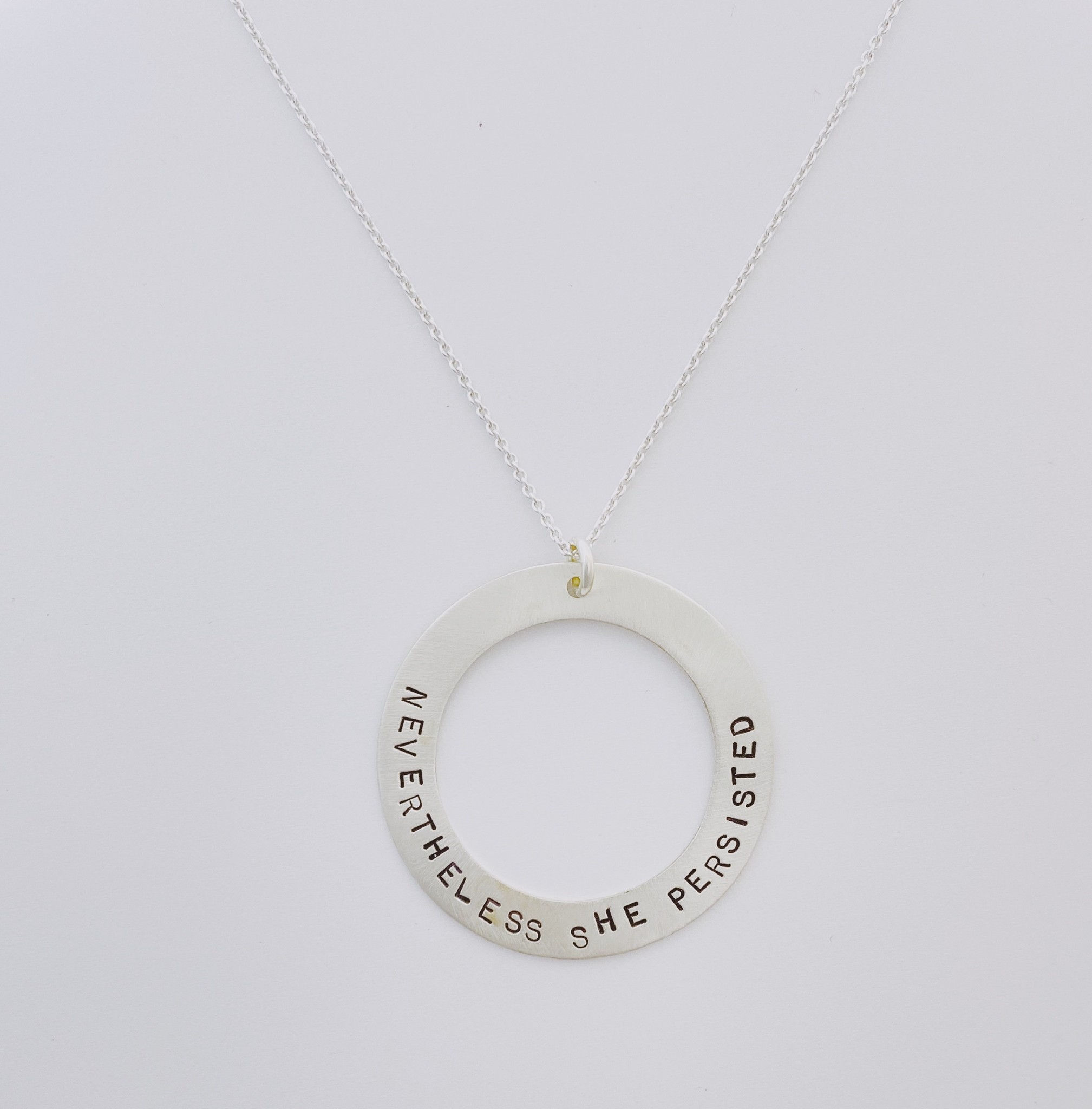 Andrea Waines Slim Halo Necklace- Nevertheless