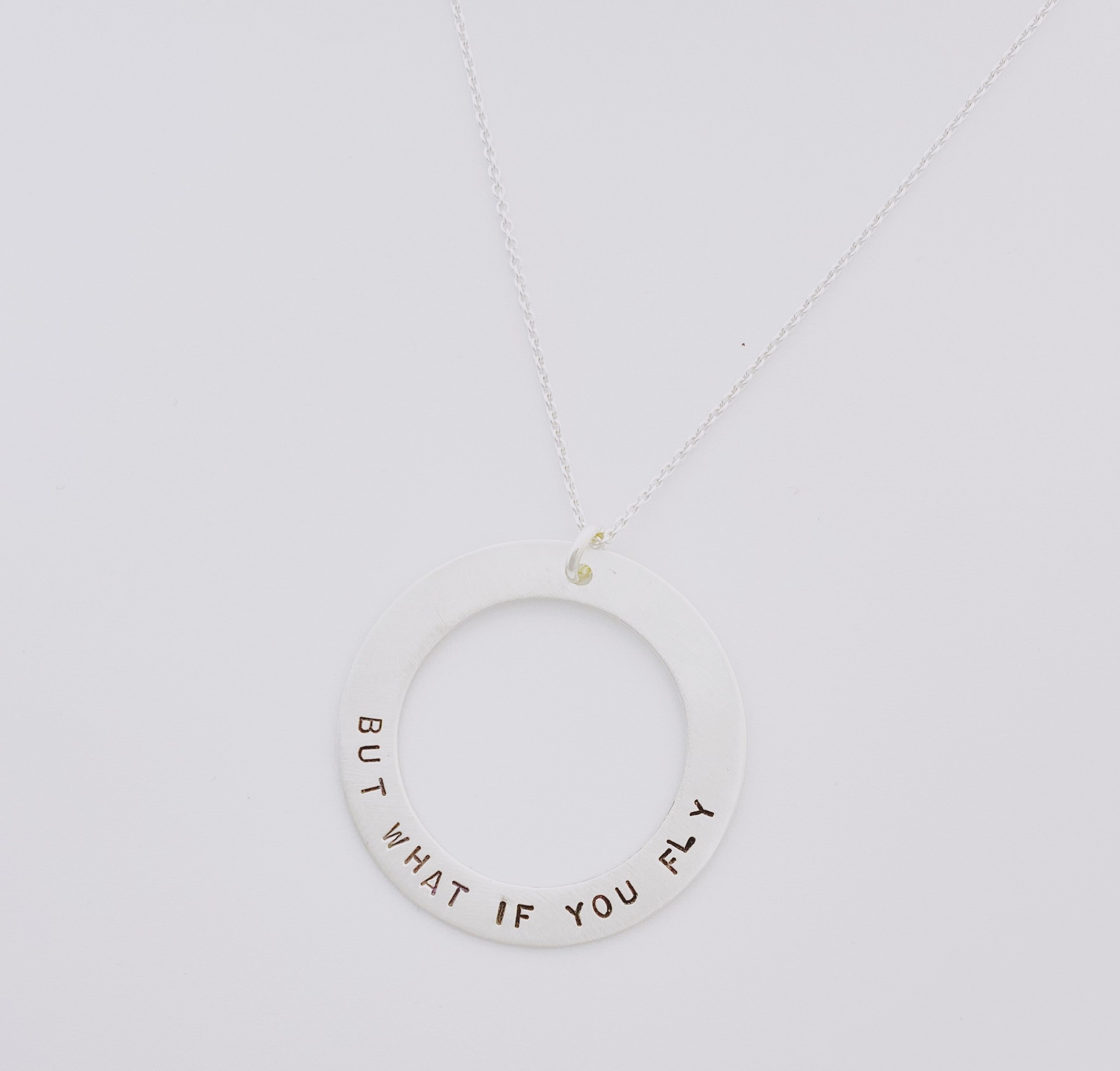Andrea Waines Slim Halo Necklace- Fly