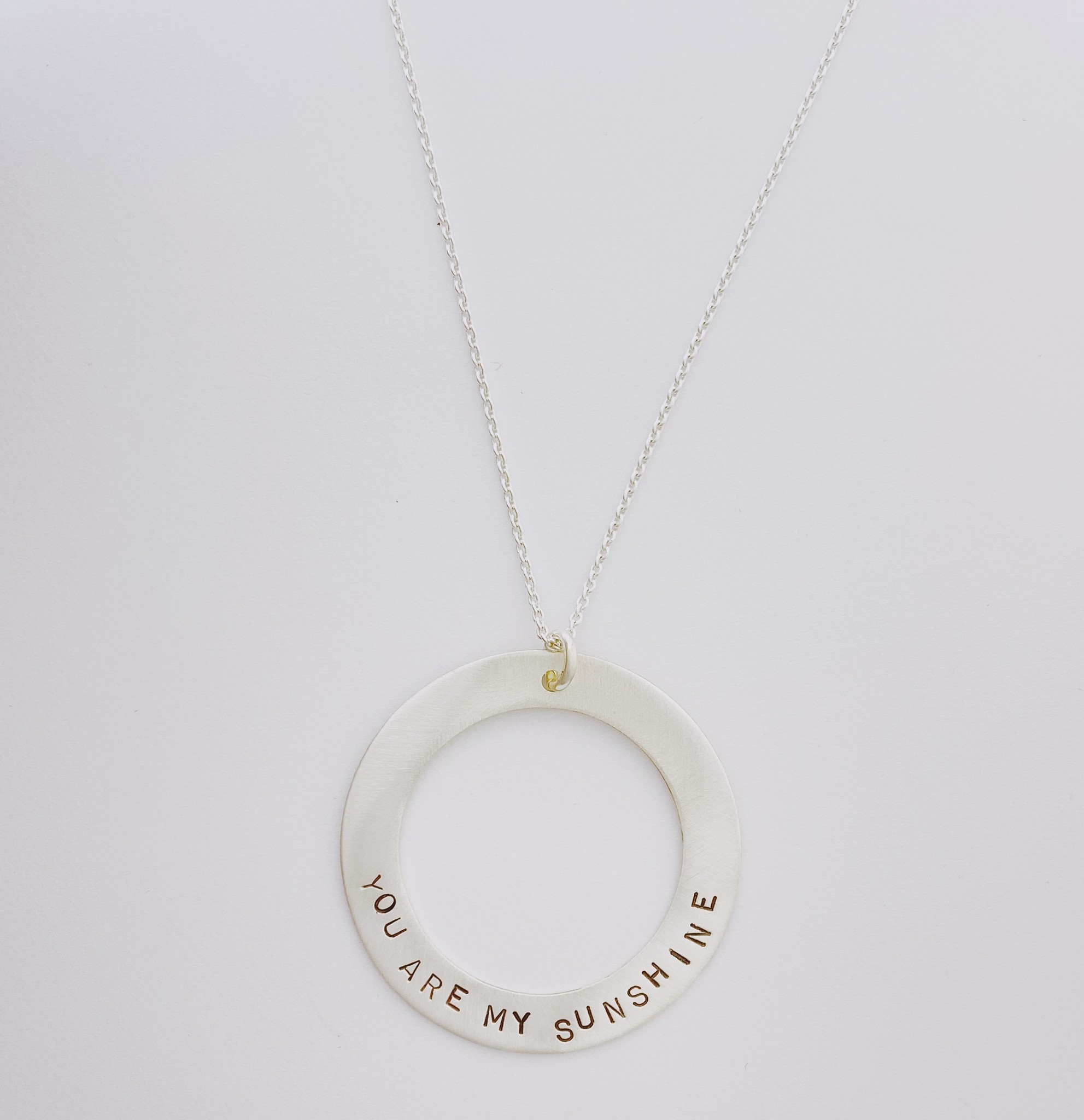 Andrea Waines Slim Halo Necklace- You Are My Sunshine