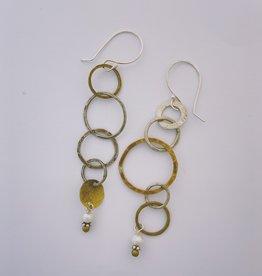 Pax Multi Loop Earring w Freshwater Pearl