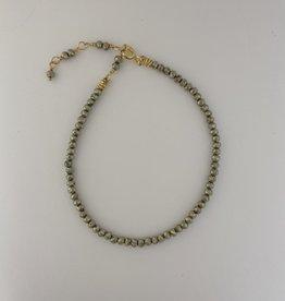 Dianne Rodger Gold Twist Pyrite Bracelet