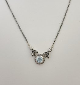 Larus Blue Topaz and Marcasite Necklace