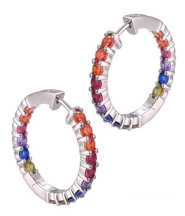Larus Rainbow Cz Hoop