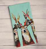 Green Box Designer Deer Tea Towel