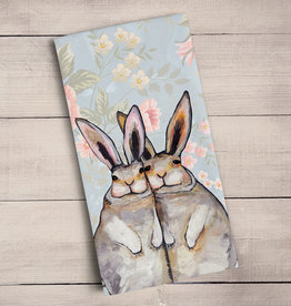Green Box Bunny Friends Tea Towel