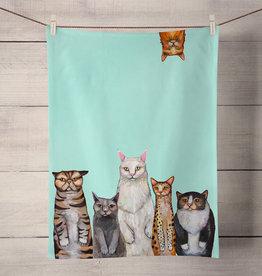 Green Box Cats, Cats, Cats Tea Towel